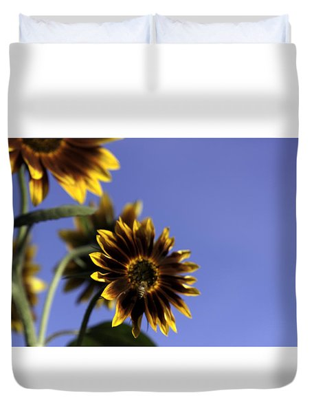 Duvet Cover featuring the photograph A Summer's Day by Lora Lee Chapman