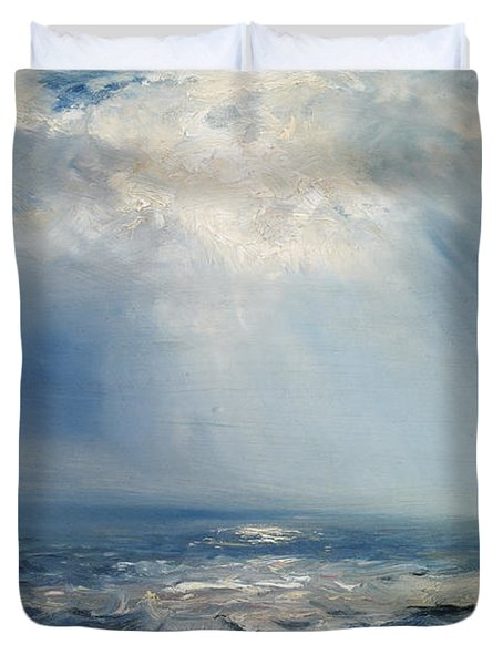 A Sunbeam Over The Sea Duvet Cover by Henry Moore