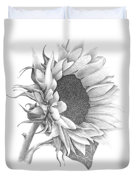A Sunflowers Beauty Duvet Cover by Patricia Hiltz