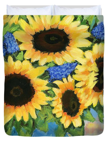 A Sunny Arrangement Duvet Cover