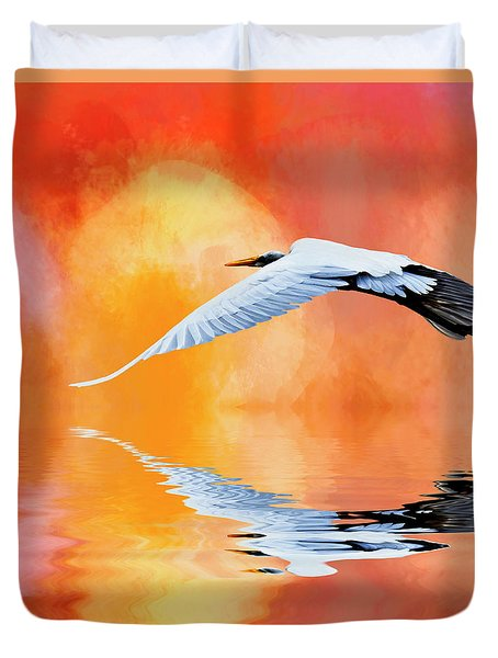 A Sunny Morning Duvet Cover by Cyndy Doty