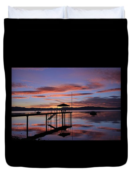 Duvet Cover featuring the photograph A Sunrise To Wake The Dead  by Sean Sarsfield