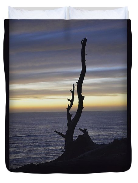 Duvet Cover featuring the photograph A Sunset by Alex King