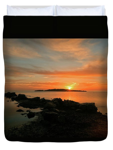 A Sunset In Ibiza Duvet Cover