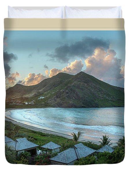 A Sunset On Bay Duvet Cover