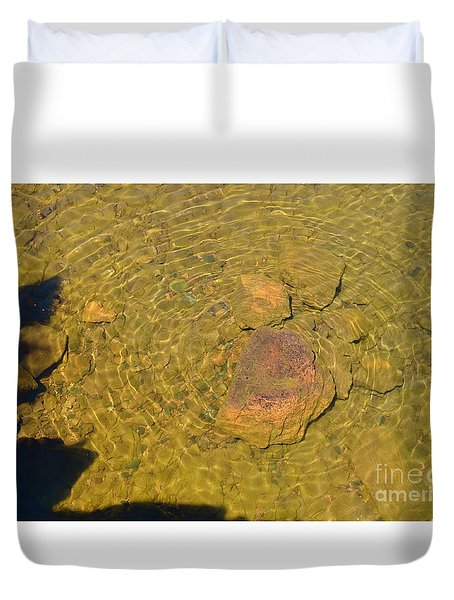 Duvet Cover featuring the photograph A Superior Bulls-eye by Sandra Updyke