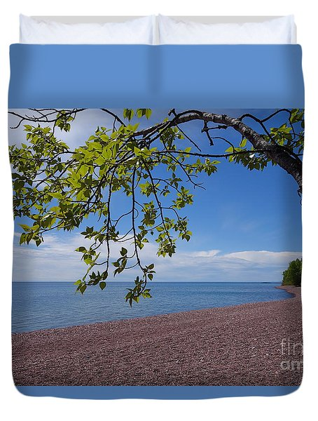 Duvet Cover featuring the photograph A Superior Hiking Day by Sandra Updyke