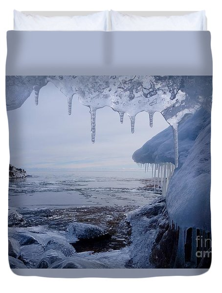 A Superior Ice Cave Duvet Cover