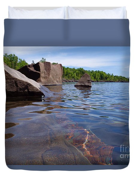 A Superior Shoreline Duvet Cover