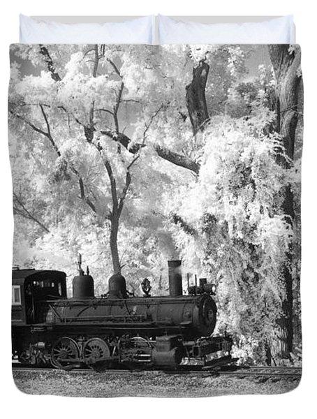 A Surreal Train Ride Duvet Cover