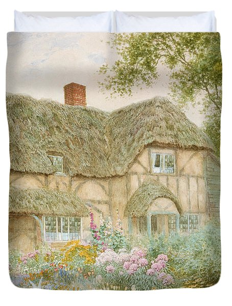 A Surrey Cottage Duvet Cover by Arthur Claude Strachan
