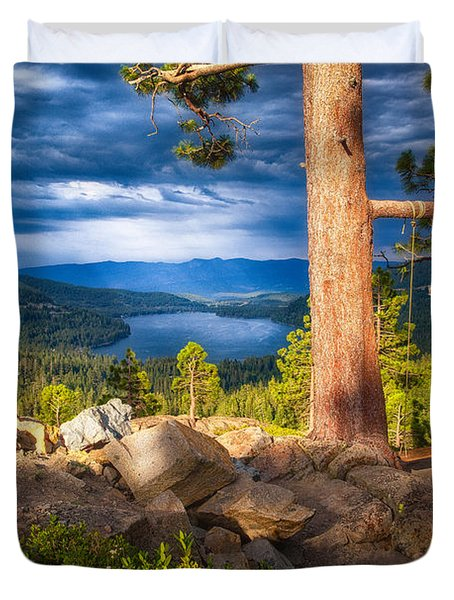 A Swing With A View Duvet Cover