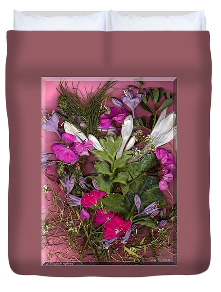 A Symphony Of Flowers Duvet Cover