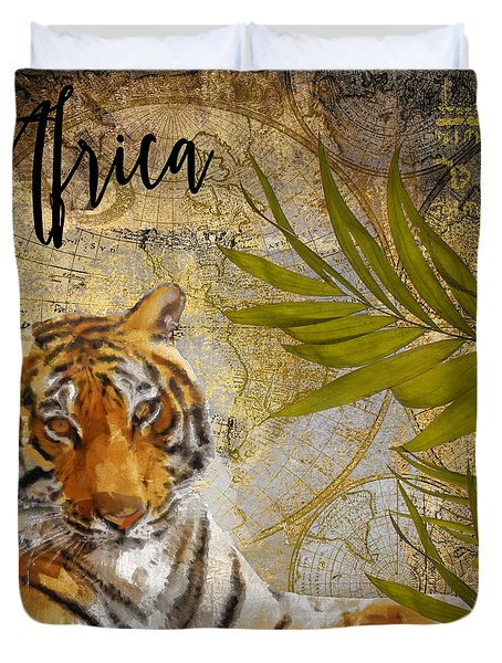 A Taste Of Africa Tiger Duvet Cover by Mindy Sommers