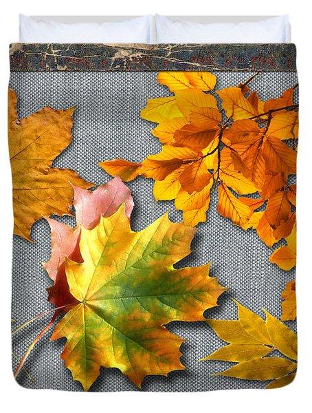A Taste Of Fall Duvet Cover by Doreen Whitelock