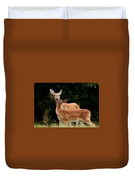 A Tender Moment Duvet Cover by Sheila Brown