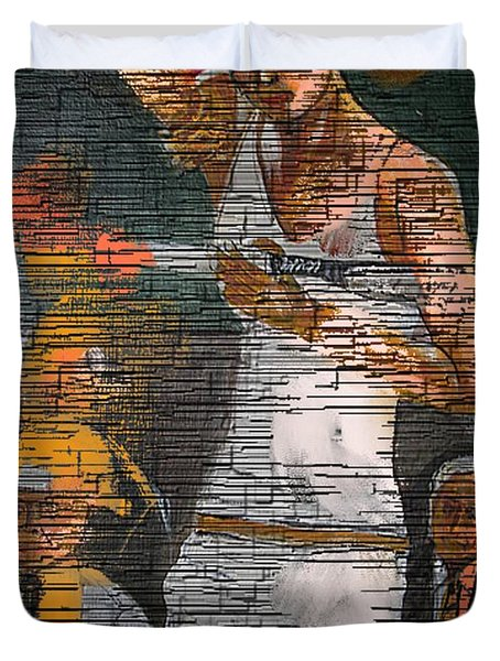 A Tennis Player Duvet Cover by Nedunseralathan R