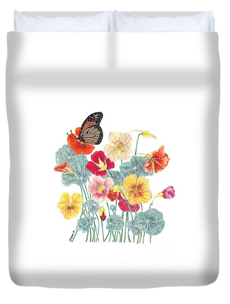 A Tethered Butterfly Duvet Cover by Stanza Widen