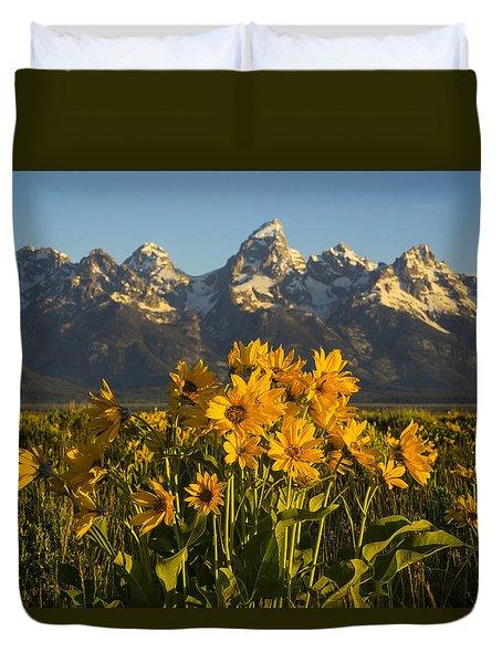 A Teton Spring Duvet Cover