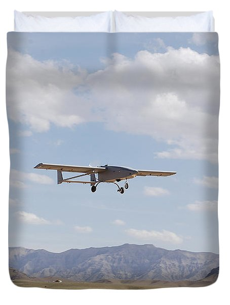 A Tiger Shark Unmanned Aerial Vehicle Duvet Cover by Stocktrek Images