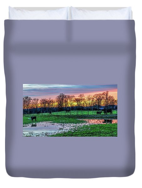 A Time For Reflection Duvet Cover by Jeffrey Friedkin
