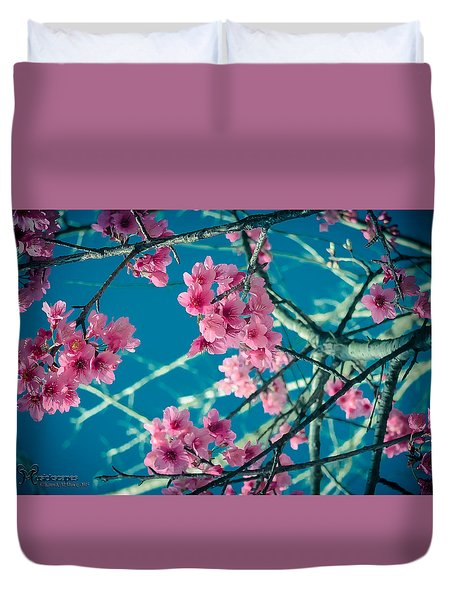 Duvet Cover featuring the photograph A Time To Blossom by Karen Musick