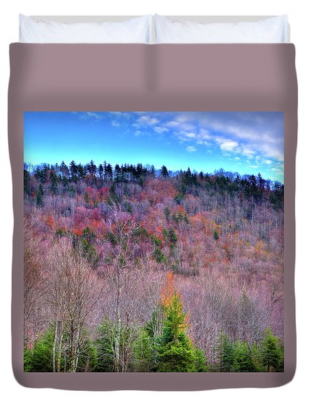 Duvet Cover featuring the photograph A Touch Of Autumn by David Patterson