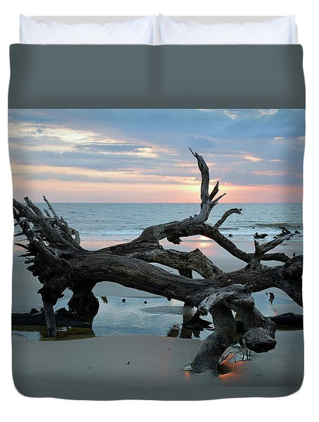 A Touch Of Morning Glory Duvet Cover by Bruce Gourley