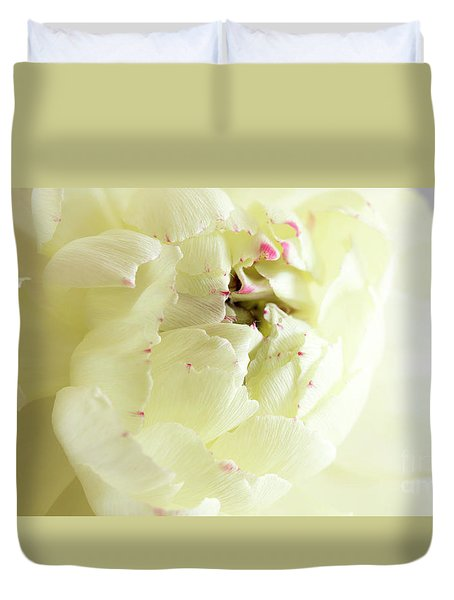 Duvet Cover featuring the photograph A Touch Of Pink by Wendy Wilton