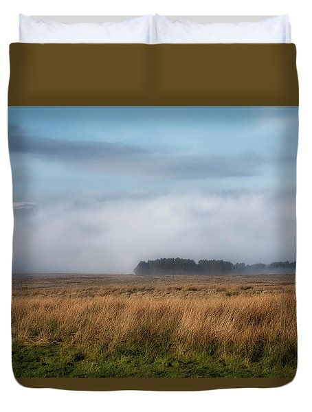 Duvet Cover featuring the photograph A Touch Of Snow by Jeremy Lavender Photography
