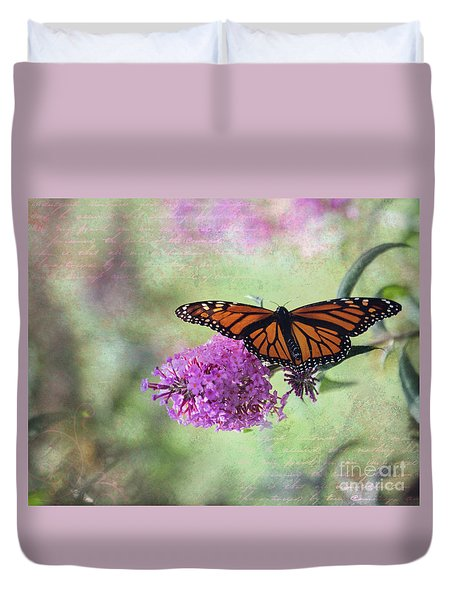 Duvet Cover featuring the photograph A Touch Of Spring by Laurinda Bowling
