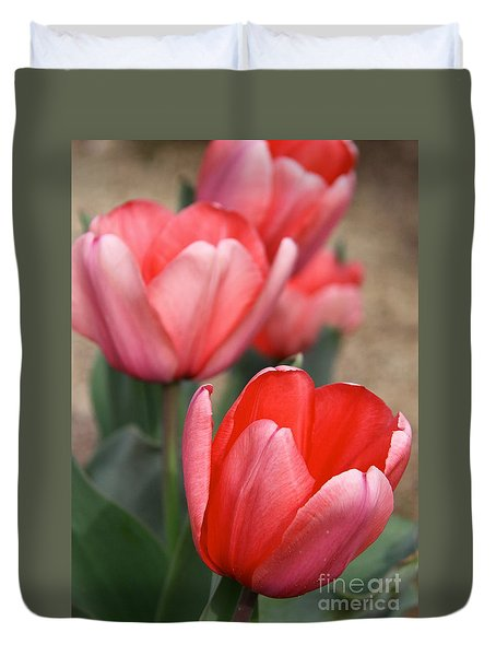 Duvet Cover featuring the photograph A Touch Of Spring by Suzanne Oesterling