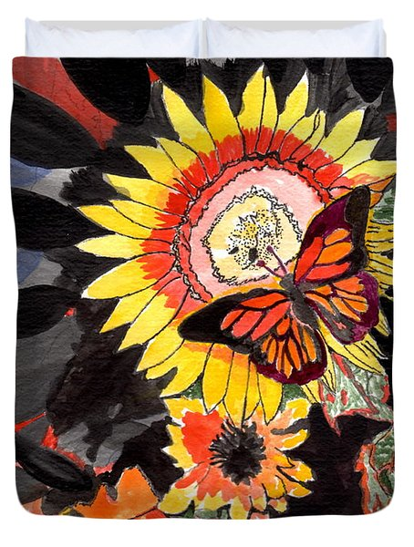 A Touch Of Summer Duvet Cover by Connie Valasco