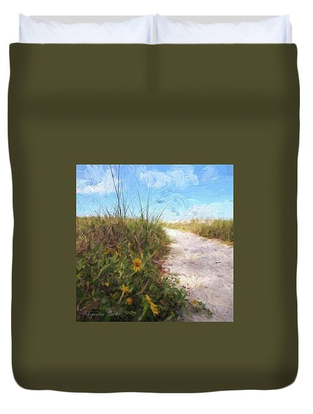 A Trail To The Beach Duvet Cover