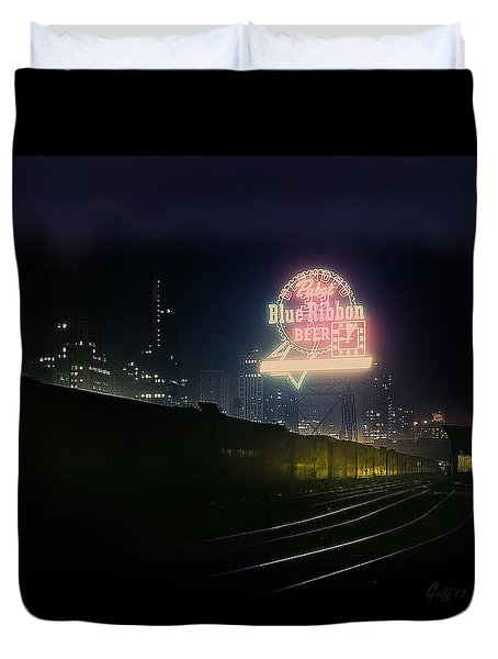 A Train's A Comin' 1948 Duvet Cover
