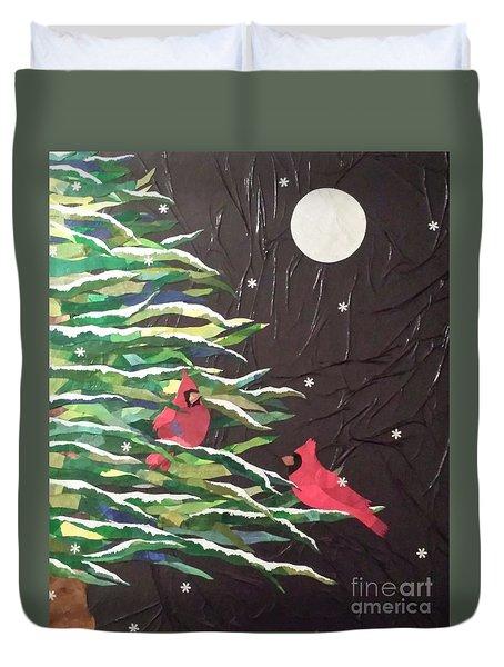 A Light Snowfall Duvet Cover by Diane Miller