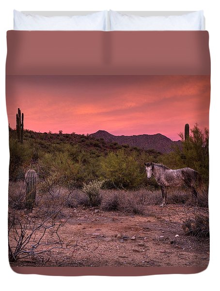 A Tranquil Moment Duvet Cover by Sue Cullumber
