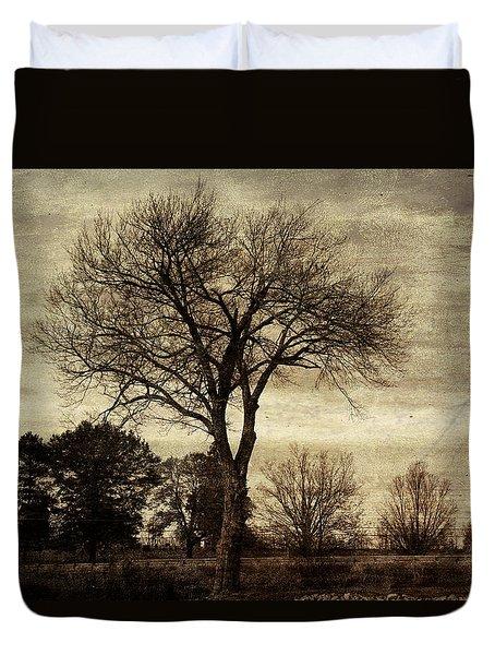 A Tree Along The Roadside Duvet Cover
