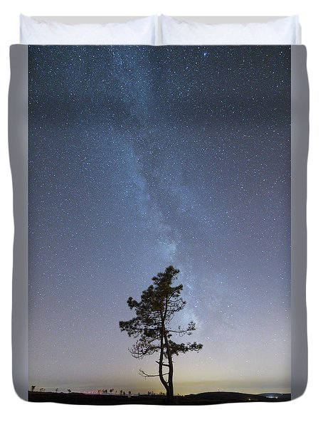 Duvet Cover featuring the photograph A Tree by Bruno Rosa