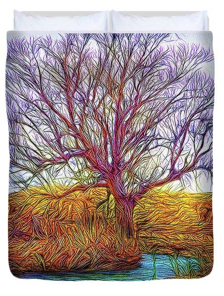 A Tree Greets Springtime Duvet Cover