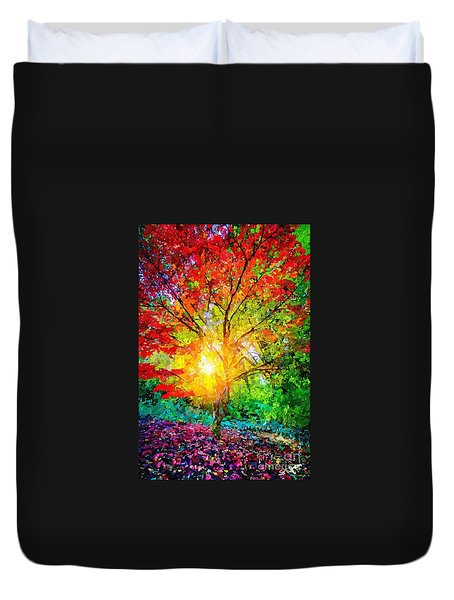 A Tree In Glory Duvet Cover
