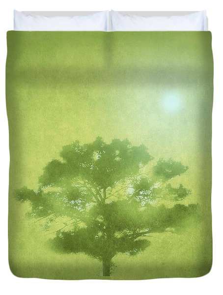 A Tree In The Pasture Duvet Cover