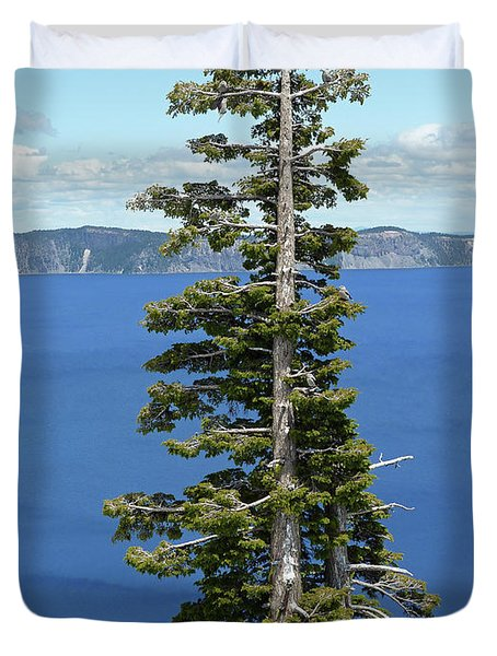 A Tree With A View Duvet Cover by Methune Hively
