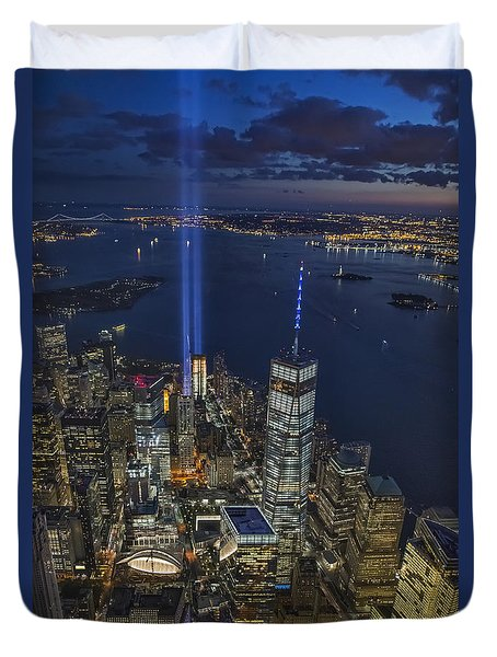 A Tribute In Lights Duvet Cover