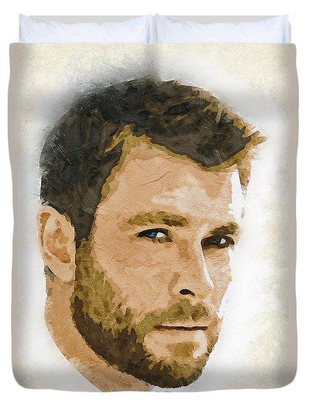 A Tribute To Chris Hemsworth Duvet Cover