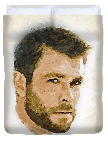 A Tribute To Chris Hemsworth Duvet Cover
