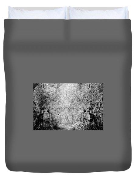 Duvet Cover featuring the photograph A Tribute To Collins Creek by Jim Vance