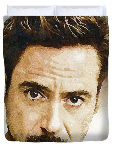 A Tribute To Robert Downey Jr. Duvet Cover