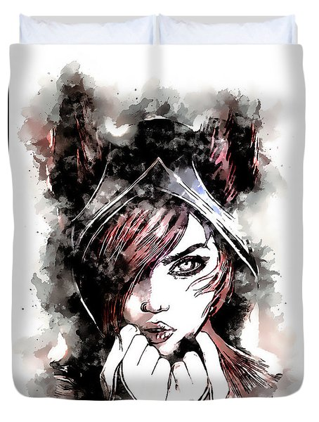 A Tribute To Xayah Duvet Cover