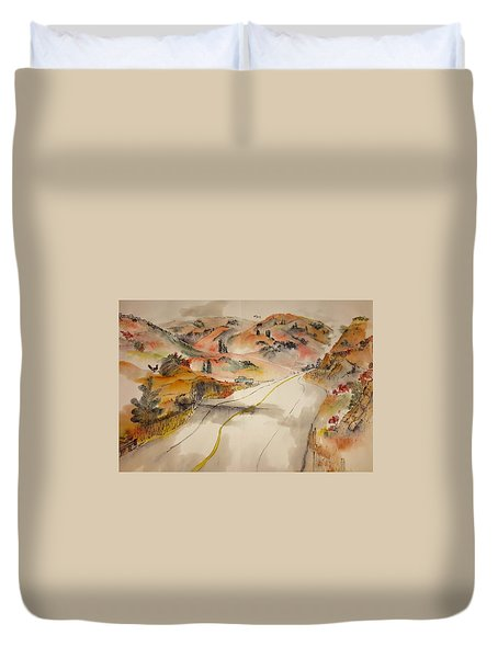 a trip to Lewistown  in Autumn  album Duvet Cover